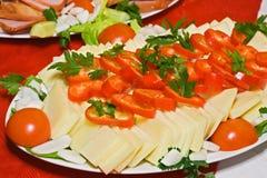 serowi warzywa Fotografia Royalty Free