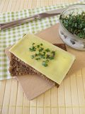 Serowy chleb z brokuł flancami Zdjęcie Royalty Free