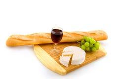 serowy francuski czerwone wino obraz stock