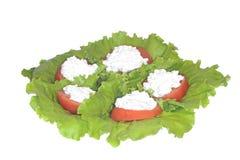 serowy granulacyjny garnek faszerujący pomidory obraz royalty free
