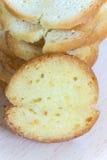 Serowy grzanka chleb na stosie obrazy stock