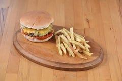 Serowy hamburger Zdjęcie Royalty Free