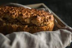 Serowy i zielarski chleb Zdjęcie Stock
