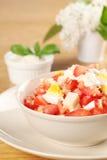 serowy jajek sałatki pomidor fotografia royalty free