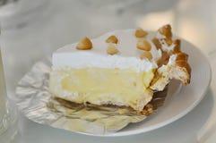 serowy kulebiaka lub sera tarta z macadamia zdjęcie royalty free