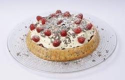 serowy malinowy torte obraz stock