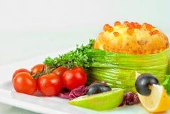 serowy omelette Philadelphia łosoś Obraz Stock