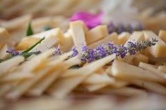 Serowy półmisek, zdrowy łasowanie Fotografia Stock
