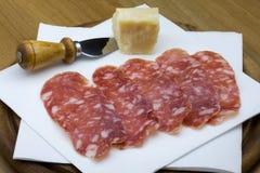 serowy salami Fotografia Stock