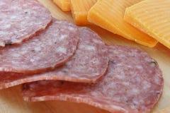serowy salami Fotografia Royalty Free