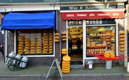 Serowy sklep w Edamskim holandie fotografia royalty free