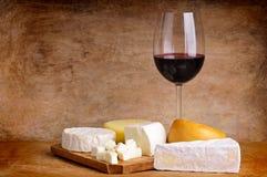 serowy wino Zdjęcia Royalty Free