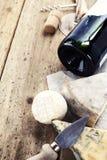 serowy wino fotografia royalty free