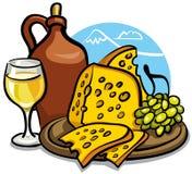 serowy wino Zdjęcie Royalty Free