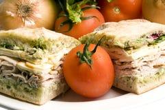 serowy wyśmienity Muenster kanapki indyk Zdjęcie Royalty Free