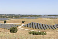 Serpa solar power plant Royalty Free Stock Image