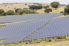 Serpa solar power plant Stock Images