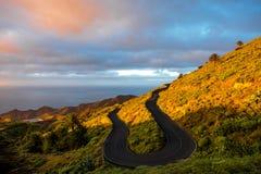Serpantine mountain road Royalty Free Stock Photography