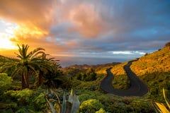 Serpantine mountain road Stock Photo