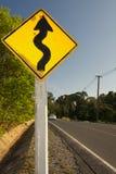 Serpeggiamento della strada Fotografia Stock