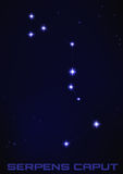 Serpens Caput constellation Stock Photo