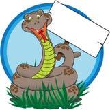 Serpent avec le signe Image stock