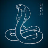 Serpent brillant sans joint de diamant. Serpent de l'an 2013 Images stock