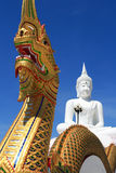 Serpent and Buddha. In Thailand Stock Image