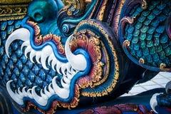 Serpent at Buddhist temple in Chiang Rai. Naga in Chiang Rai Thailand Royalty Free Stock Photos