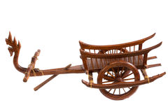 Serpent Carts wood art in thailand Stock Photography