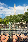 The Serpent Column and Blue Mosque minarets in Istanbul, Turkey Stock Images