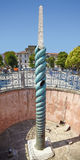 Serpent Column and Walled Obelisk on the Hippodrome of Constanti Stock Photo