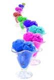 serpent crème de glace de cônes de couleur Photos stock