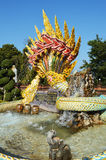 Serpent. Culture yellow traditional legend attraction decoration thailand golden Royalty Free Stock Photos
