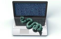 Serpent d'ordinateur électronique de concept de sécurité de Digital Image stock