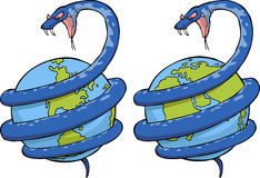 Serpent dans le monde illustration de vecteur