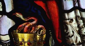 Serpent dans un calice Images libres de droits