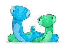 Serpent de dessin animé Image libre de droits