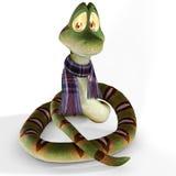Serpent de dessin animé avec l'écharpe Photographie stock