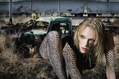 Serpent de femme images libres de droits