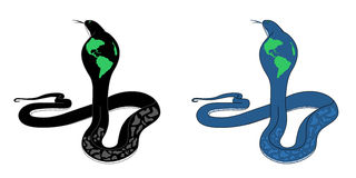Serpent de la terre Photos stock