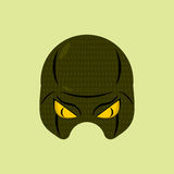 Serpent de masque de super héros Masque protecteur de reptile pour la personne Vecteur illustration libre de droits