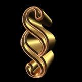 Serpent, Font, Gold, Metal Stock Photos