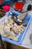Serpent frais pour la vente sur le marché de Bac Ha, Vietnam Photographie stock libre de droits