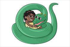Serpent Girl Royalty Free Stock Image