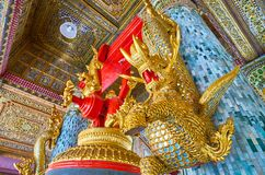 The serpent guardians of Tharrawaddy Min Bell, Shwedagon, Yangon royalty free stock image