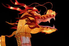 Serpent head silk lantern Stock Photos