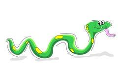 Serpent heureux Photos libres de droits