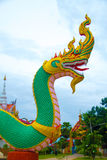 Serpent king or king of naga statue. At Ubonratchathani Province,Thailand Stock Photo