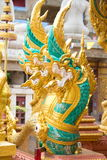 Serpent king or king of naga statue 04. Serpent king or king of naga statue at Wat Tai Phra Chao Yai Ong Tue,Ubonratchathani Province,Thailand Royalty Free Stock Photos